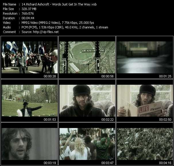 Richard Ashcroft video screenshot