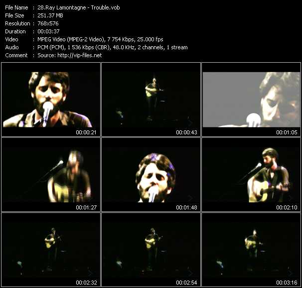 Ray Lamontagne video screenshot