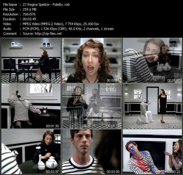 Regina Spektor video screenshot