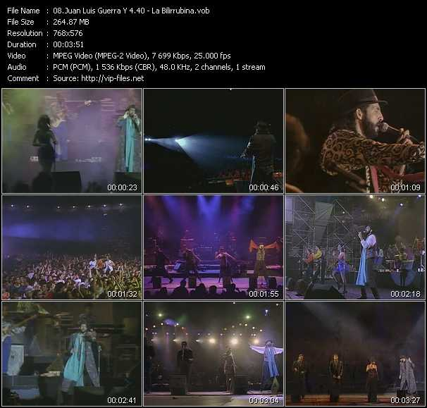 Juan Luis Guerra 440 video screenshot
