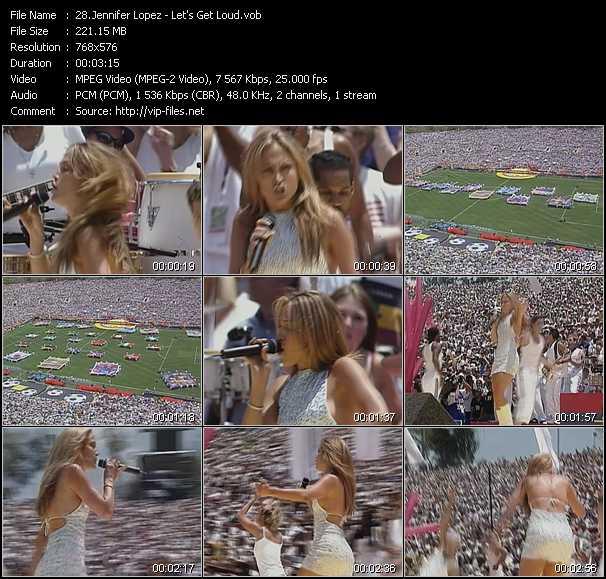 Jennifer Lopez video screenshot