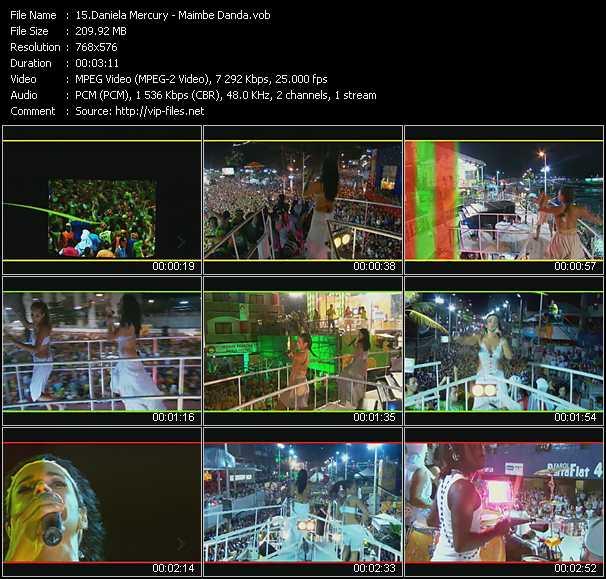 Daniela Mercury video screenshot