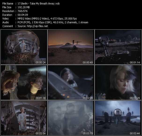 video Take My Breath Away screen