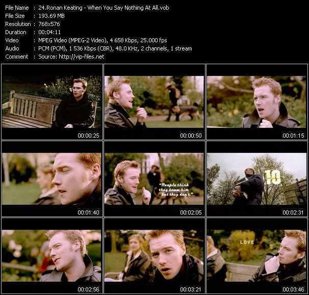 Ronan Keating video screenshot