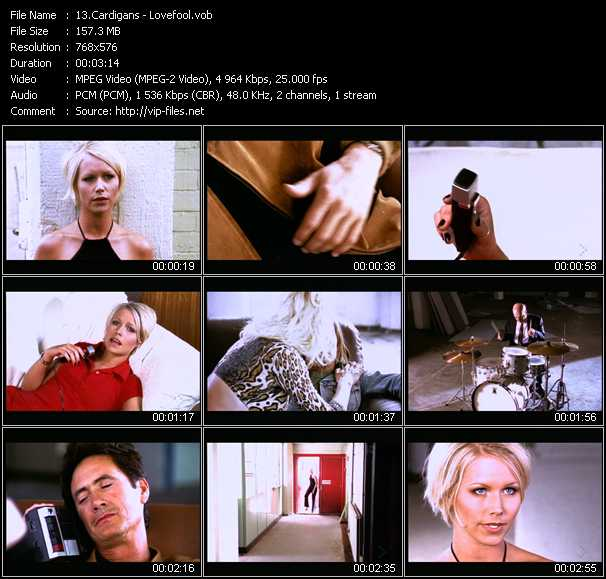 Cardigans video screenshot