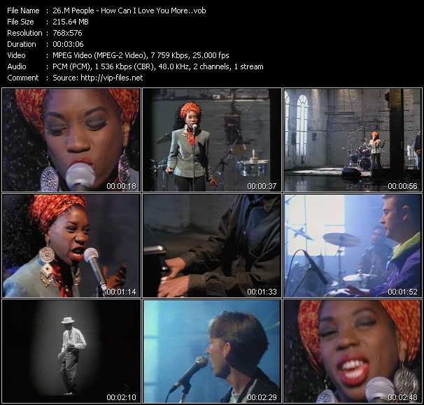 M People video screenshot
