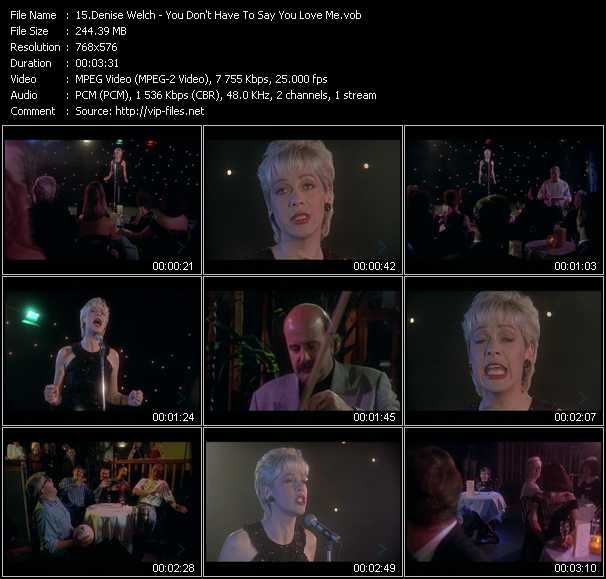 Denise Welch video screenshot