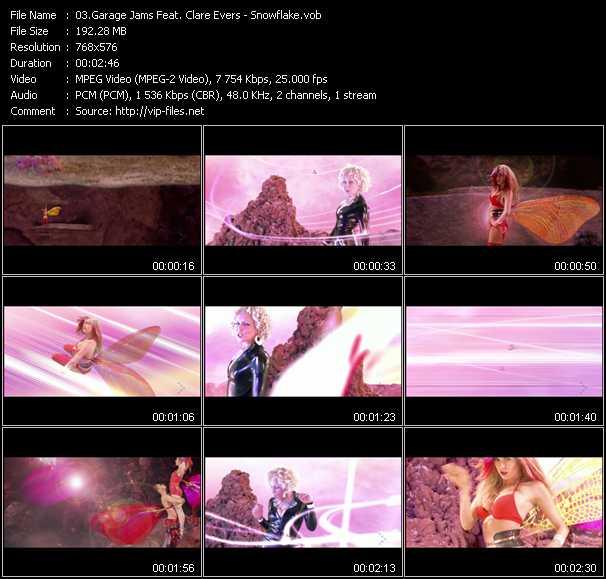 video Snowflake screen