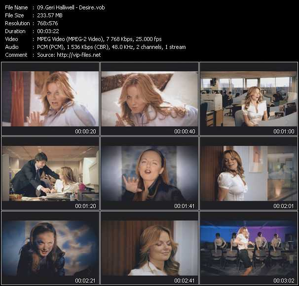 Geri Halliwell video screenshot