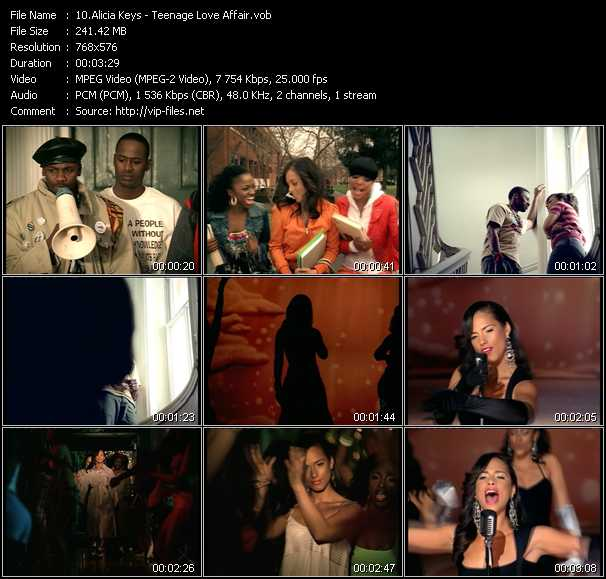 video Teenage Love Affair screen