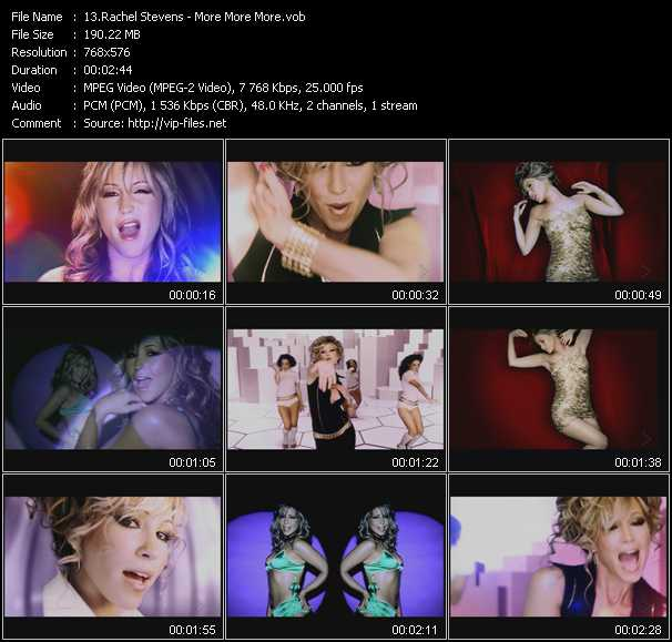 Rachel Stevens video screenshot