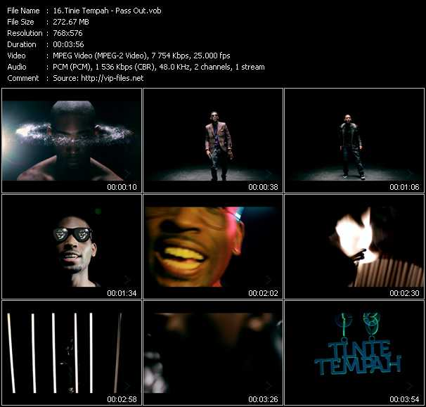 Tinie Tempah video screenshot