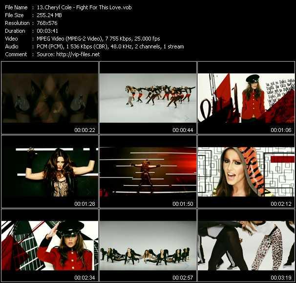Cheryl Cole video screenshot