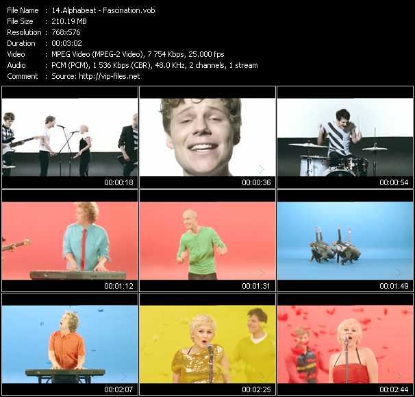 Alphabeat video screenshot