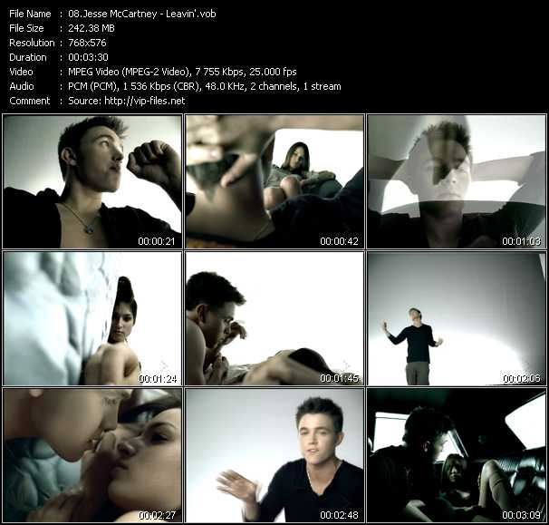 Jesse McCartney video screenshot