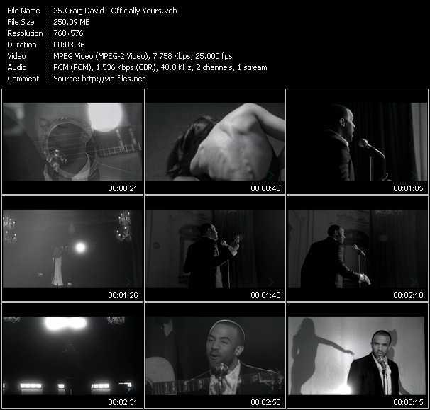 Craig David video screenshot