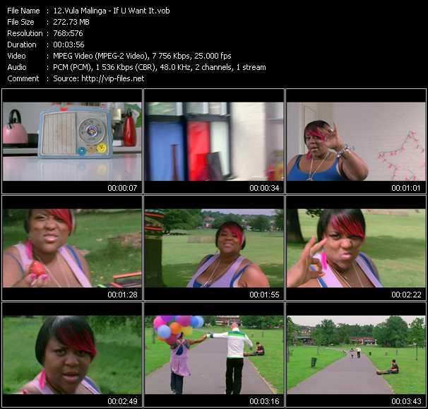 Vula Malinga video screenshot