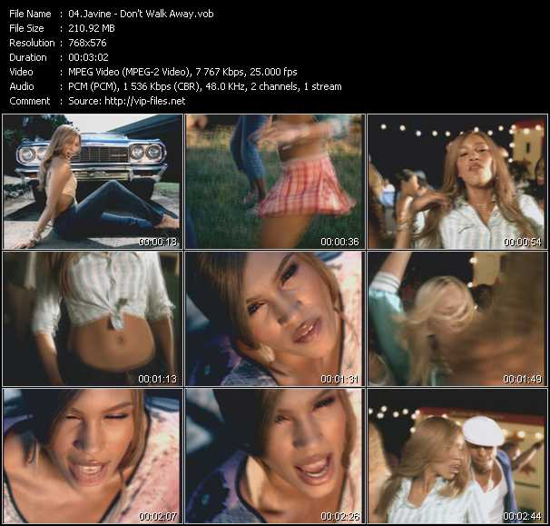 Javine video screenshot