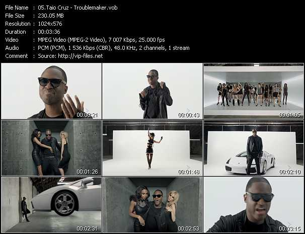 Taio Cruz video screenshot