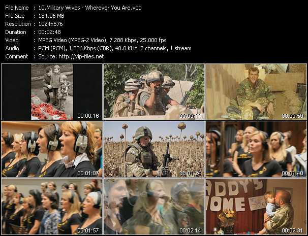 Military Wives video screenshot