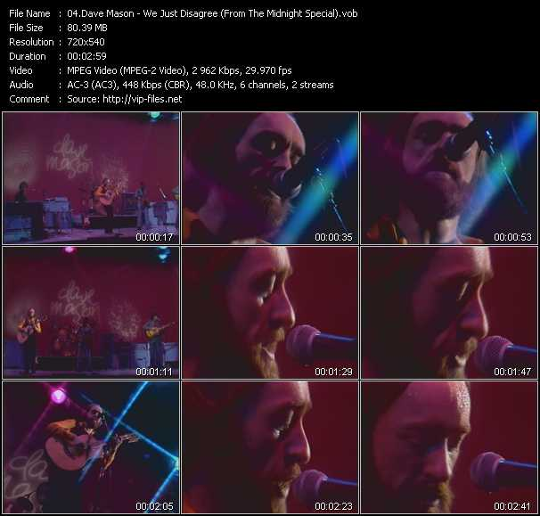 Dave Mason video screenshot