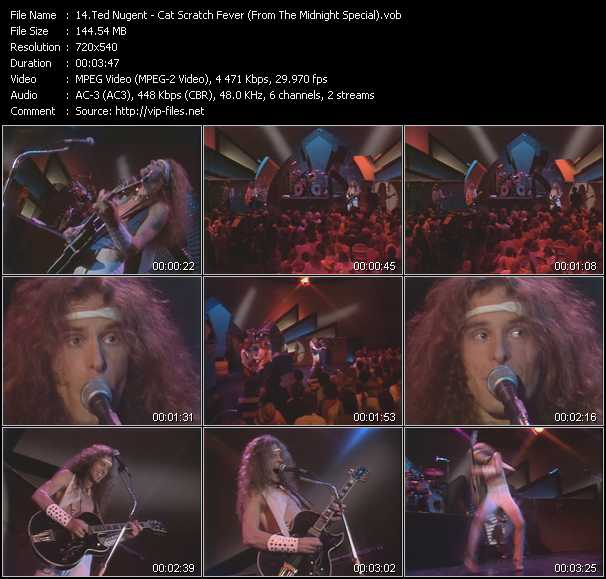 Ted Nugent video screenshot
