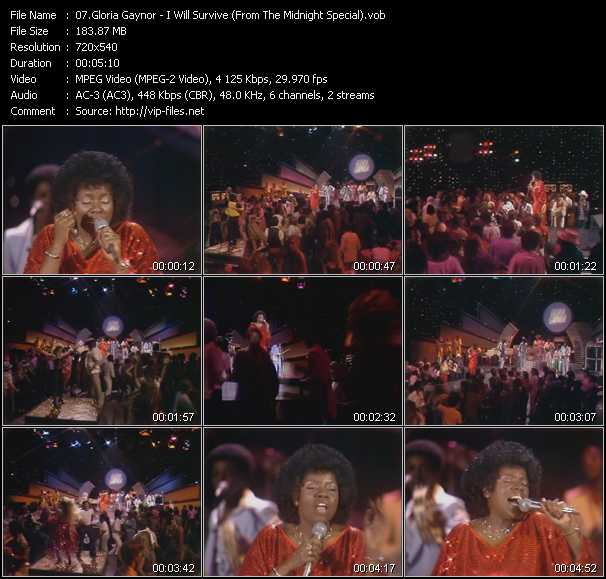 Gloria Gaynor video screenshot