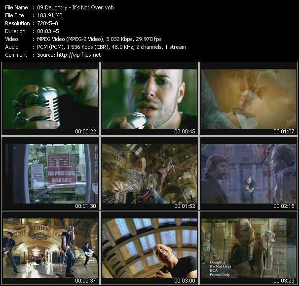 Daughtry video screenshot