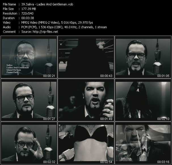 Saliva video screenshot