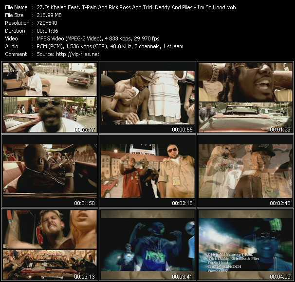 Dj Khaled Feat. T-Pain And Rick Ross And Trick Daddy And Plies video screenshot