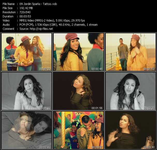 Jordin Sparks video screenshot