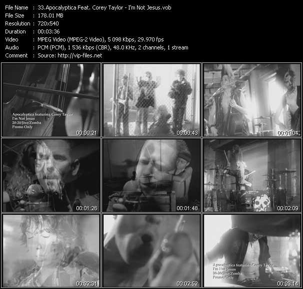 Apocalyptica Feat. Corey Taylor video screenshot