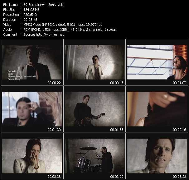 Buckcherry video screenshot