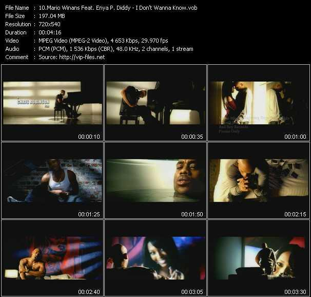 Mario Winans Feat. Enya And P. Diddy (Puff Daddy) video screenshot