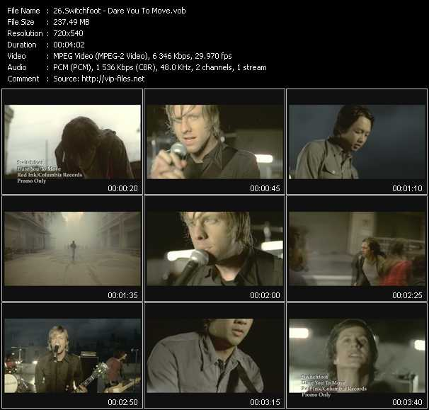 Switchfoot video screenshot