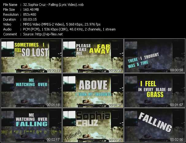 video Falling (Lyric Video) screen
