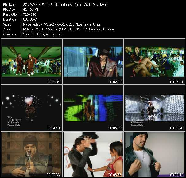 Missy Elliott Feat. Ludacris - Tiga - Craig David video screenshot