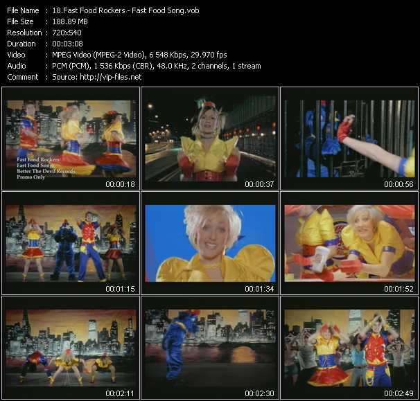 Fast Food Rockers video screenshot