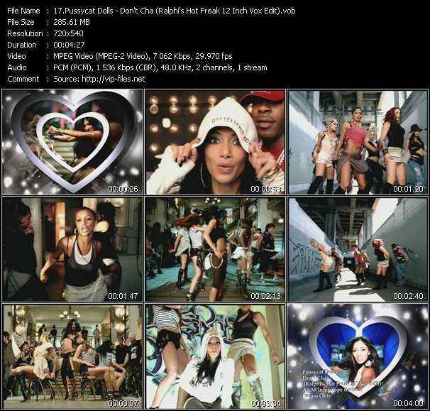 video Don't Cha (Ralphi's Hot Freak 12 Inch Vox Edit) screen
