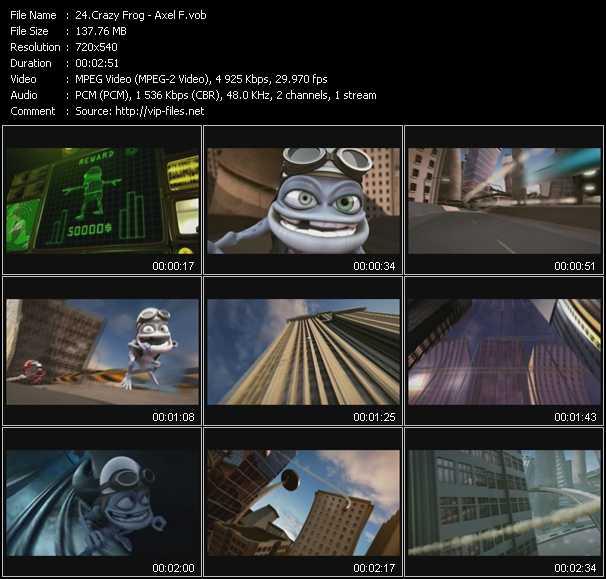 Crazy Frog video screenshot