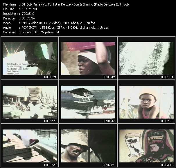 Bob Marley Vs. Funkstar Deluxe video screenshot
