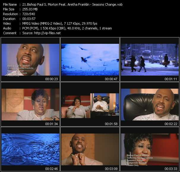 Bishop Paul S. Morton Feat. Aretha Franklin video screenshot