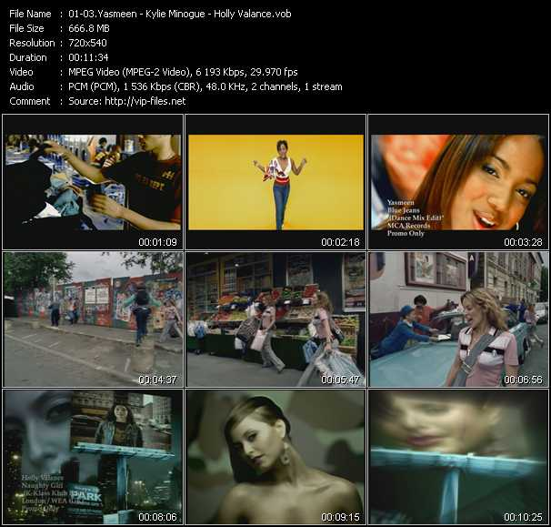 Yasmeen - Kylie Minogue - Holly Valance video screenshot