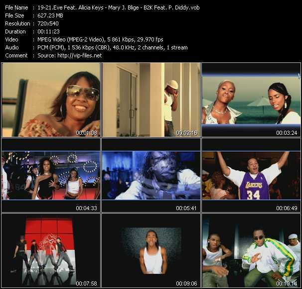 Eve Feat. Alicia Keys - Mary J. Blige - B2K Feat. P. Diddy (Puff Daddy) video screenshot