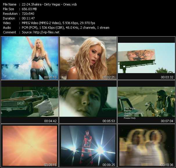 Shakira - Dirty Vegas - Ones video screenshot