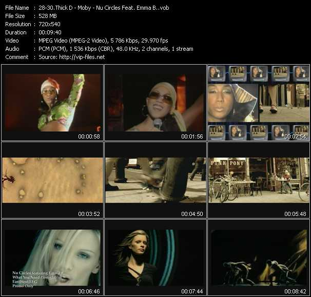 Thick D - Moby - Nu Circles Feat. Emma B. video screenshot