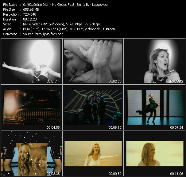 Celine Dion - Nu Circles Feat. Emma B. - Lasgo video screenshot
