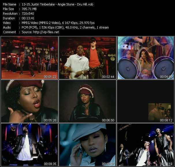 Justin Timberlake - Angie Stone - Dru Hill video screenshot