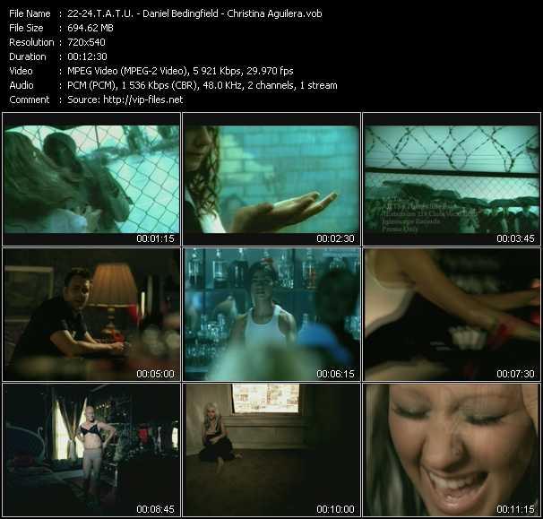 T.A.T.U. - Daniel Bedingfield - Christina Aguilera video screenshot