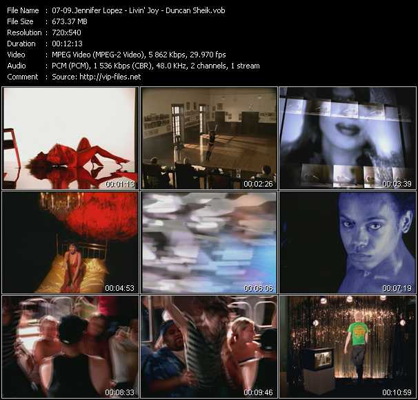 Jennifer Lopez - Livin' Joy - Duncan Sheik video screenshot
